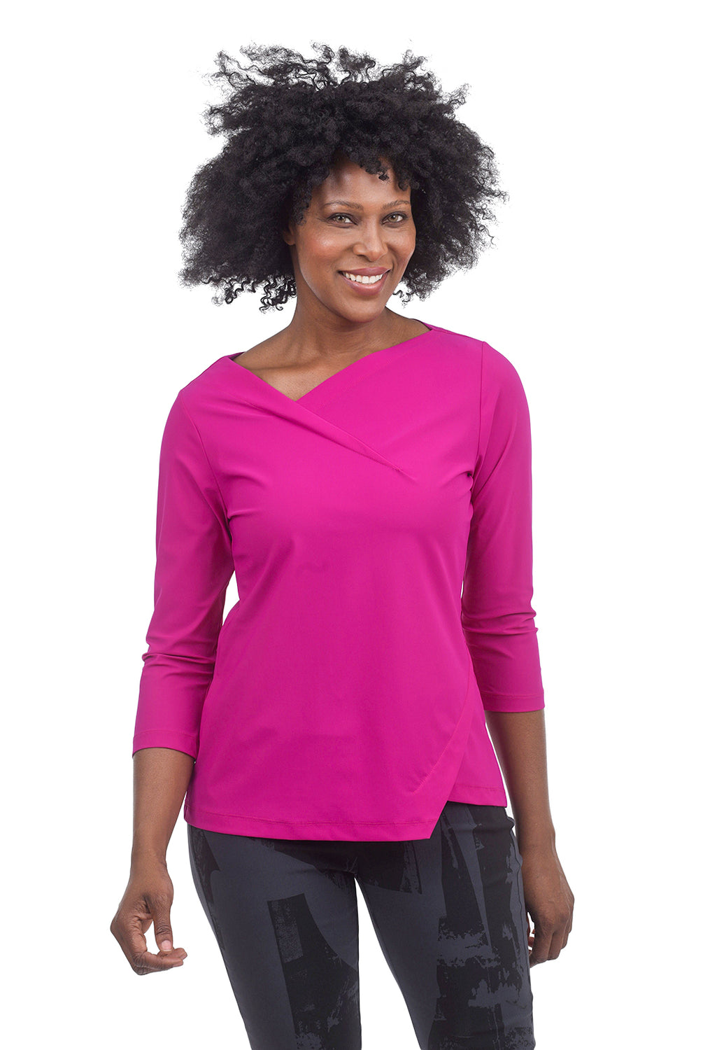 Porto Gazette Top, Fuchsia
