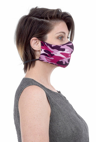 Color Me Cotton CMC Print Face Mask, Pink Camo