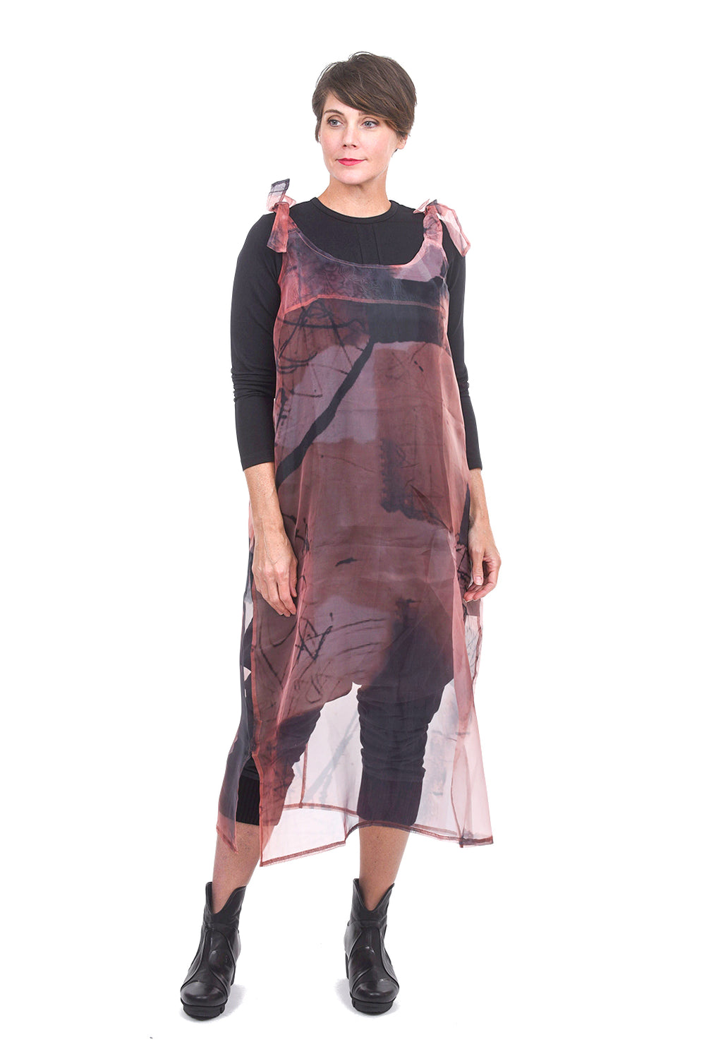 Luukaa Vanessa Semi-Sheer Tunic, Cinnamon