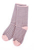 Little River Sock Mill Striped Slouch Socks, Pink/Indigo One Size Pink