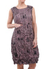 Alquema Smash Pocket Dress, Mauve Newsprint