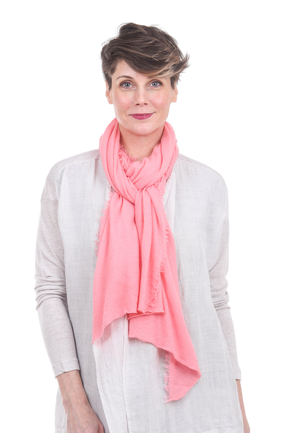 Grisal Cashmere 'Love' Scarf, Bubble Pink One Size Pink