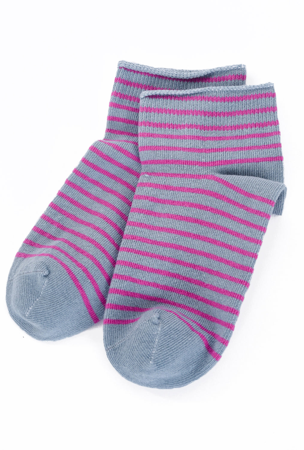 Little River Sock Mill Striped Bootie, Moon Gray/Orchid One Size Gray