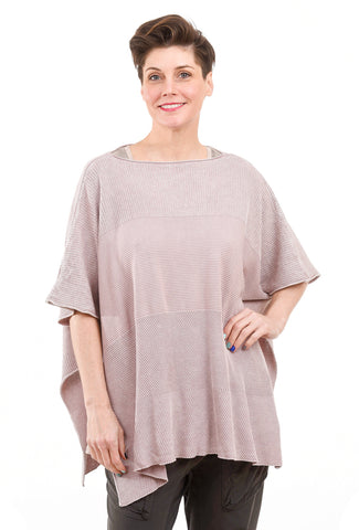 M. Rena Mineral Wash Poncho, Pearl Oyster One Size Pearl