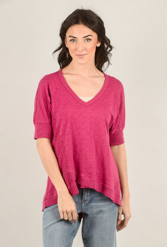 Veronique Miljkovitch French Fleece Zarah Top, Sunset