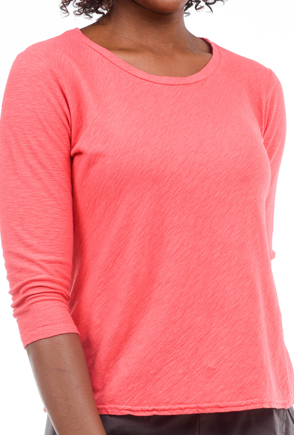Cut Loose 3/4-Sleeve Bias Tee, Harbor Red