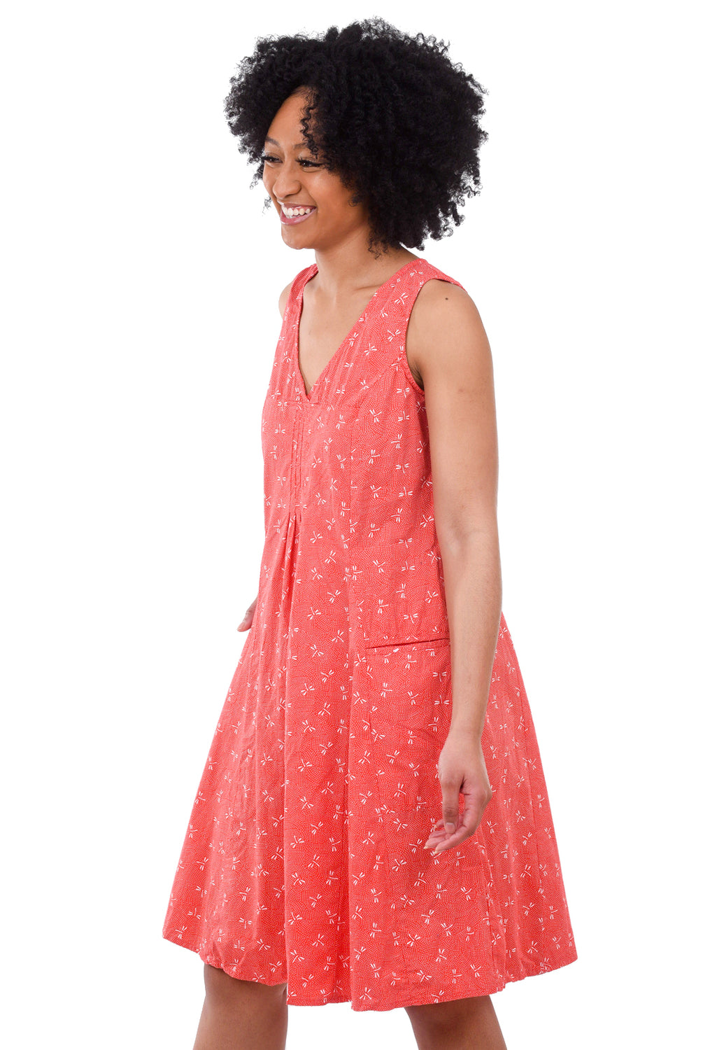 Tulip Poppie Dress, Red Dragonfly