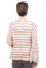 Hem & Thread Tie-Up Stripe Sweater, Pink