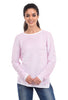 Orly Ridge Stripe Sweater, Pink/White