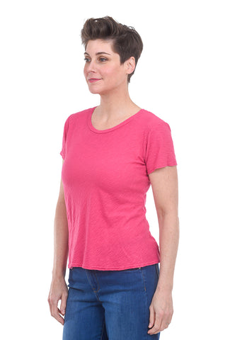 Cut Loose S/S Bias Tee, Cherry Pink Fizz