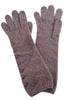 Santacana Madrid Long Button Cashmere Gloves, Brown One Size Brown