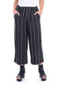 Alembika Silky Stripey Pants, Black