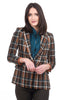 The Korner Sheedy Plaid Blazer, Camel/Green