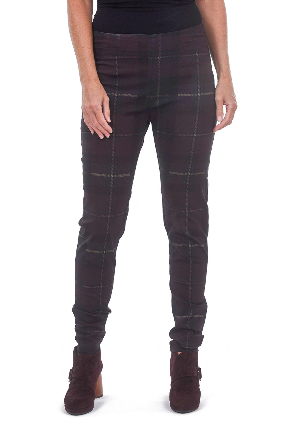 Rundholz Black Label Sig Stretch Twill Icon Skinny, Merlot Plaid