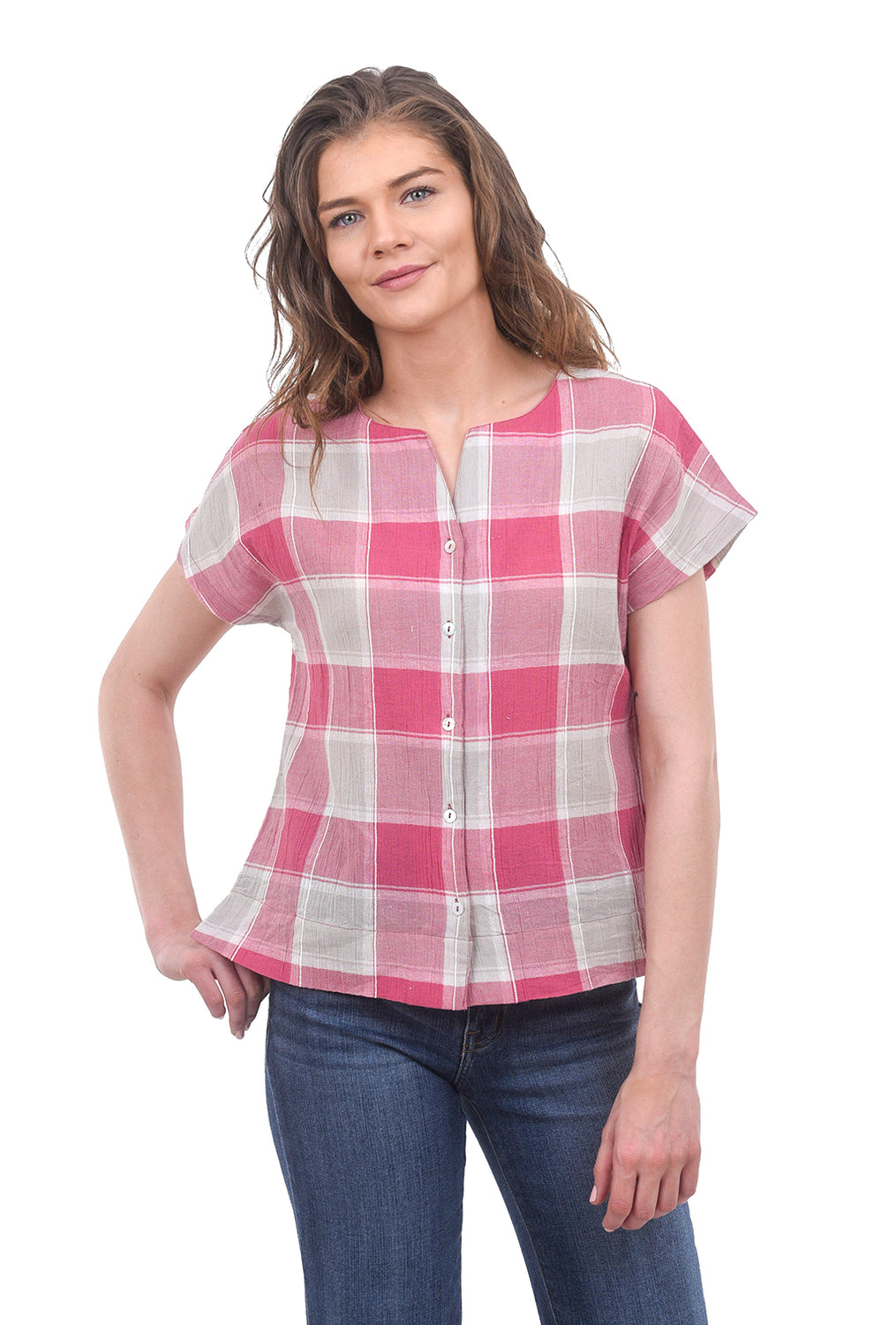 Two Danes Cotton Gauze Viviana Top, Blush Pink