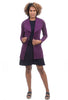 Eva Varro Pebbled Angelina Jacket, Deep Purple