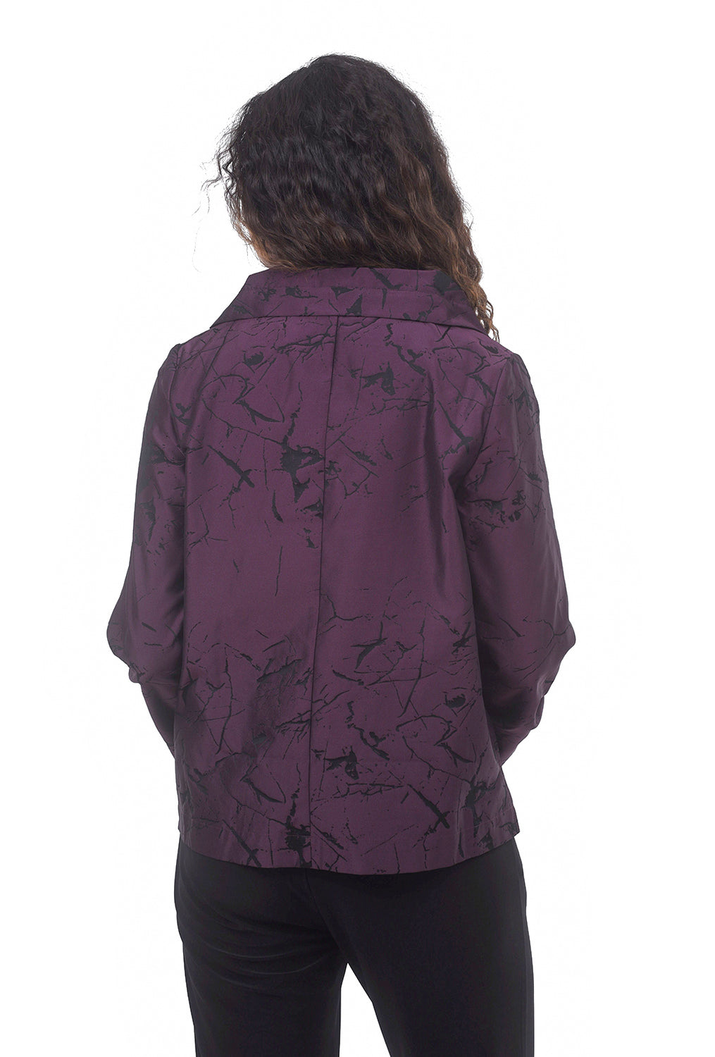 Liv by Habitat Print Suzanne Jacket, Mulberry