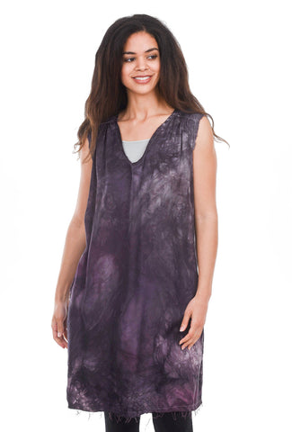 Love Tanjane Silky Satin Tussa Tank Dress, Pom Carbon