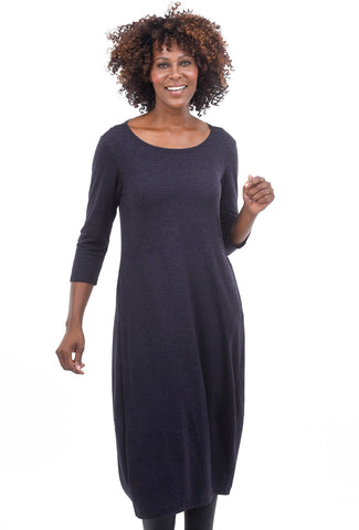 Cut Loose Char Jersey Dress, Eggplant