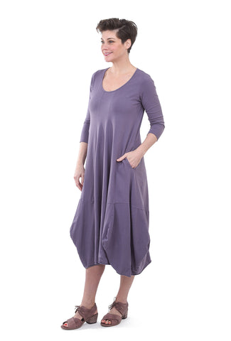 Luukaa Rita Knit Lantern Dress, Lilac