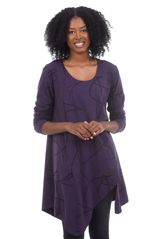 Snapdragon & Twig Gracie Jersey Tunic, Purple