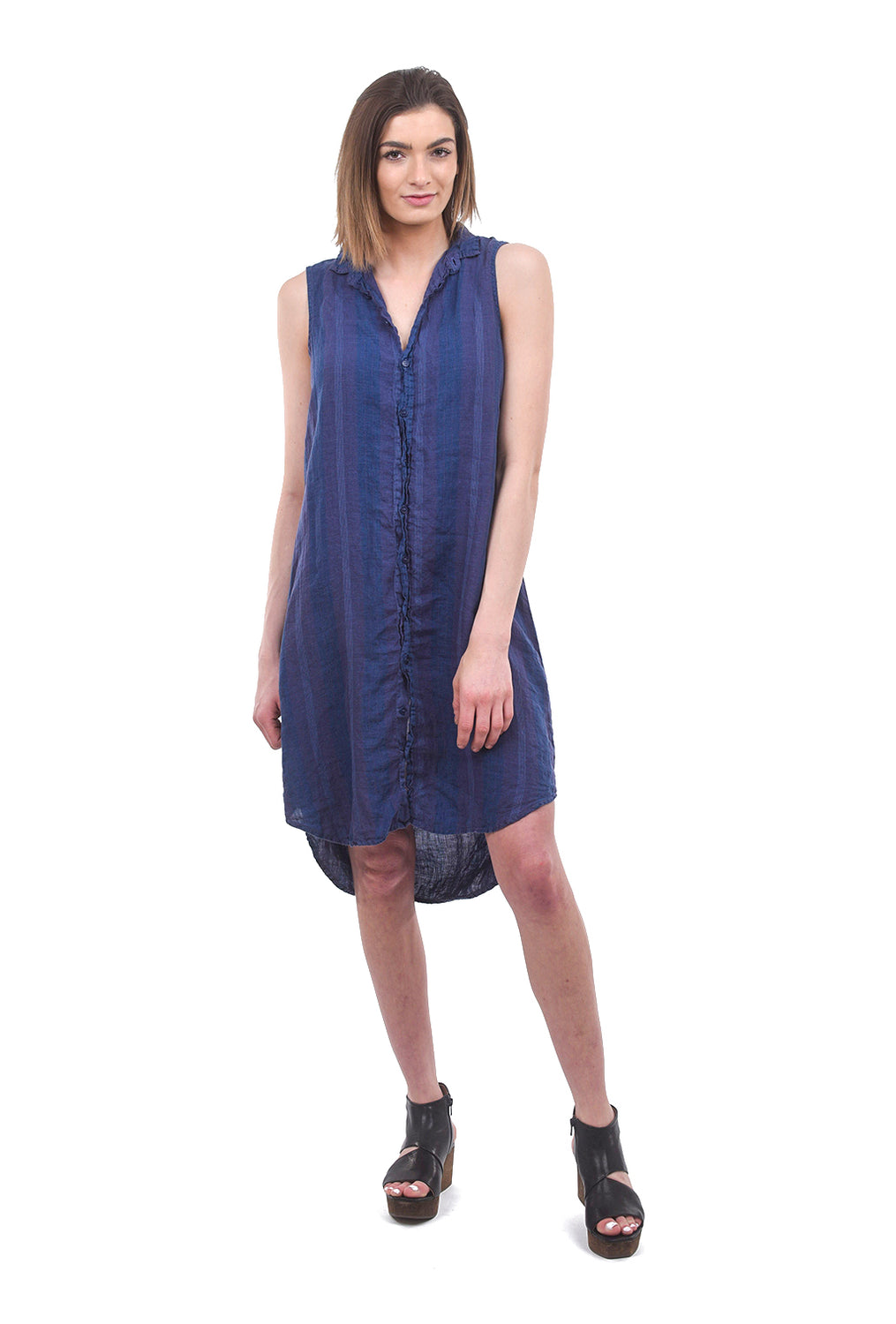 CP Shades Mara Subtle Stripe Tunic, Marine Blue