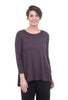 Comfy USA Modal Amy Top, Raisin