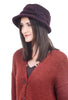 Lillie & Cohoe Hats Grace Boiled Wool Hat, Aubergine