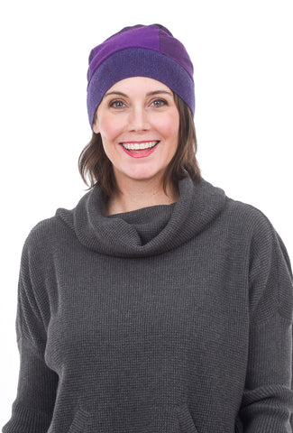 Sardine Clothing Company Recycled Cashmere Hat, Purples One Size Purple