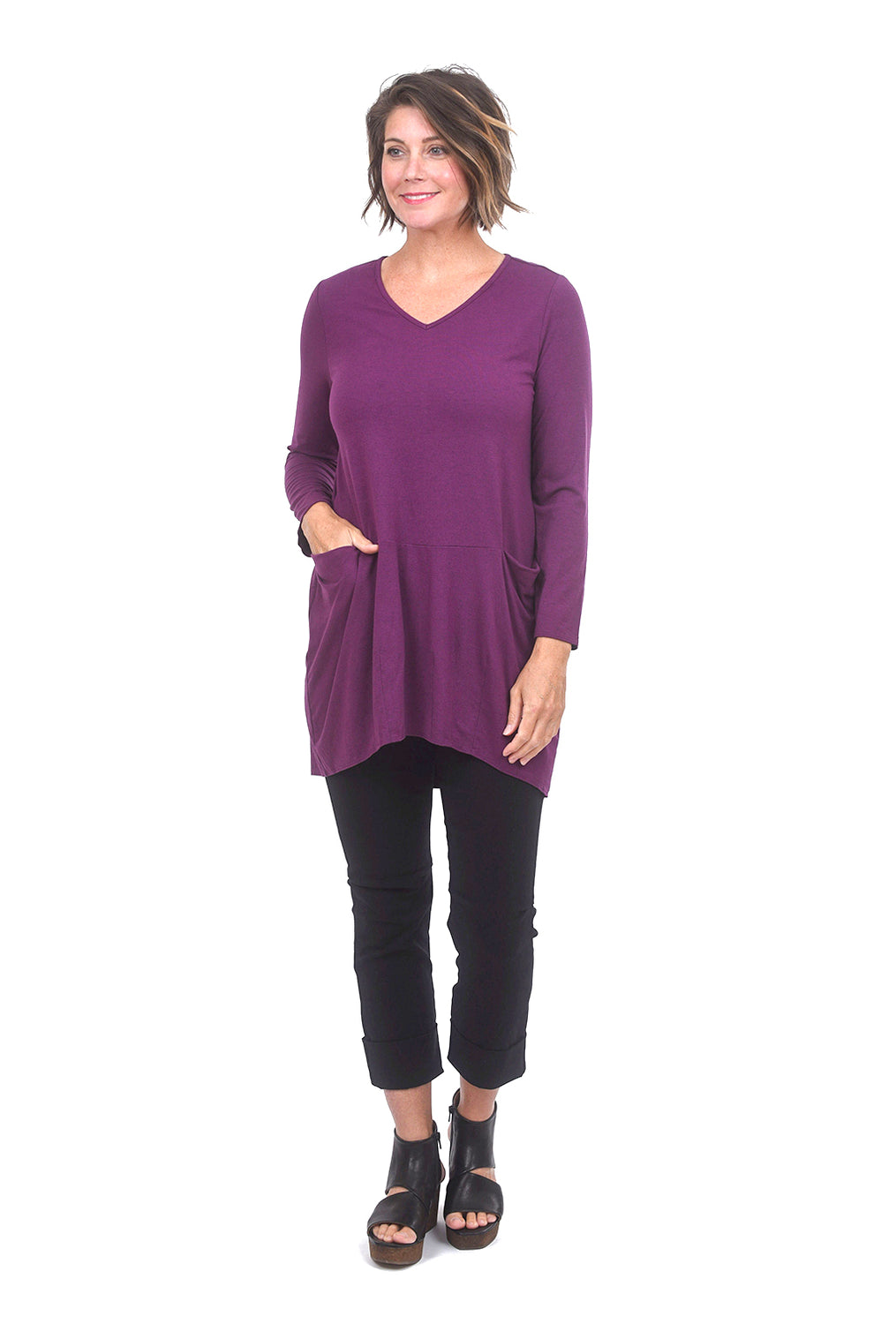 Liv by Habitat Heather Jersey Audrey Tunic, Plum