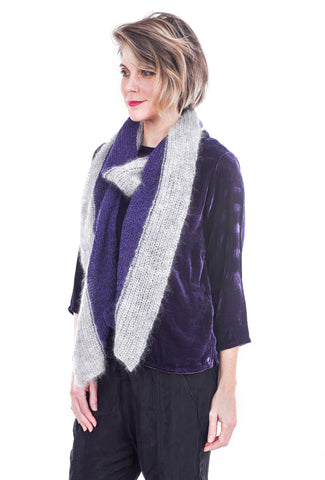 Anna Lu AnnaLu Small ColorBlock Scarf, Purple/Gray One Size Purple