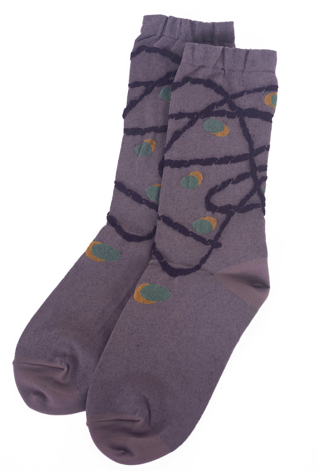 Ji-U Grapevine Detail Socks, Mauve One Size Mauve