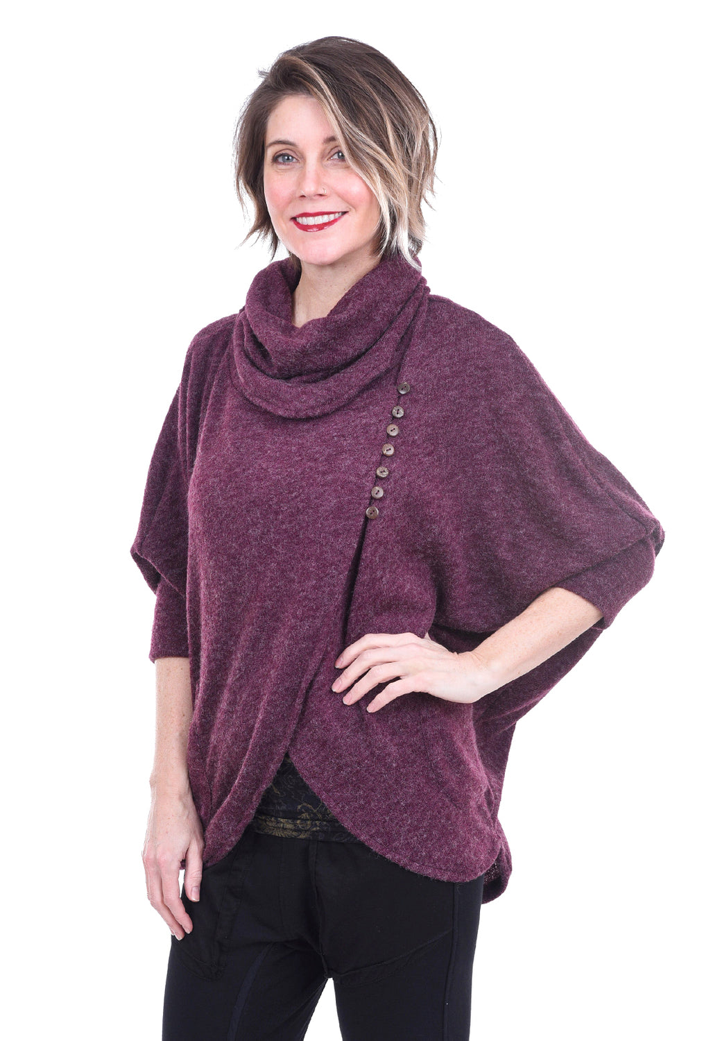 Windhorse Designs Y'Abu Sweater, Merlot One Size Merlot