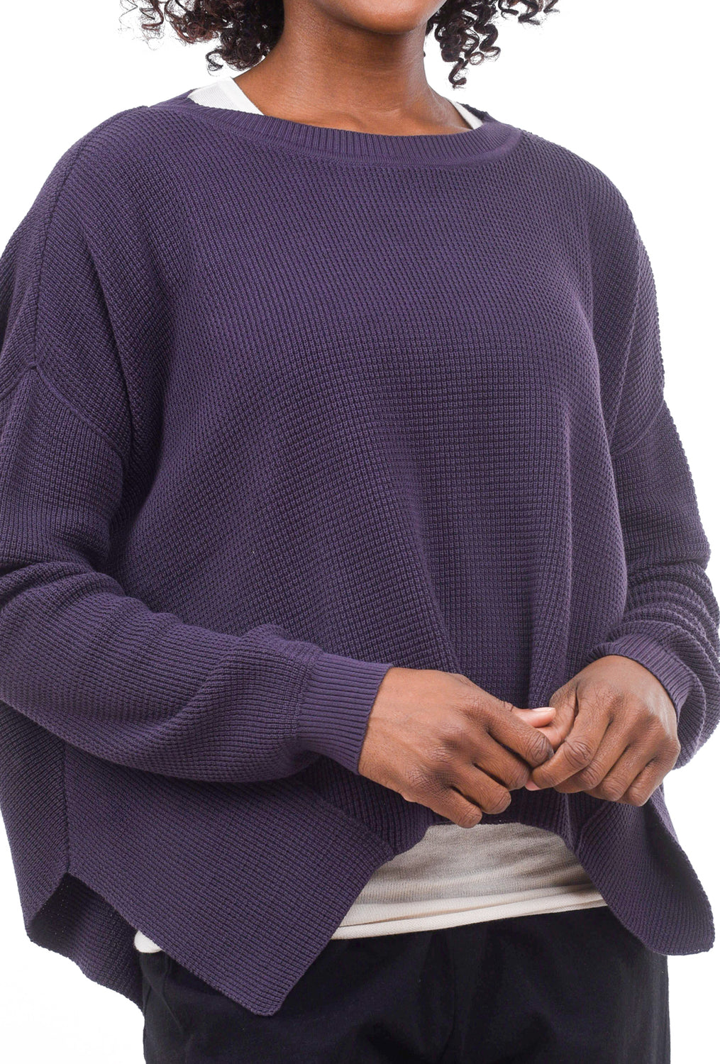 Planet Thermal Crew Sweater, Plum One Size Plum