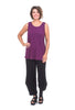 Liv by Habitat Heather Jersey Long Tank, Plum