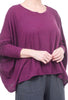 Cut Loose Linen Knit Drop-Shoulder Tee, Vino One Size Vino