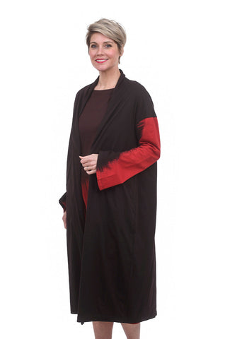 Moyuru Contrast Sleeve Topper, Brown/Red