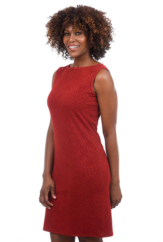 Eva Varro Pebbled Sheath Dress, Marsala