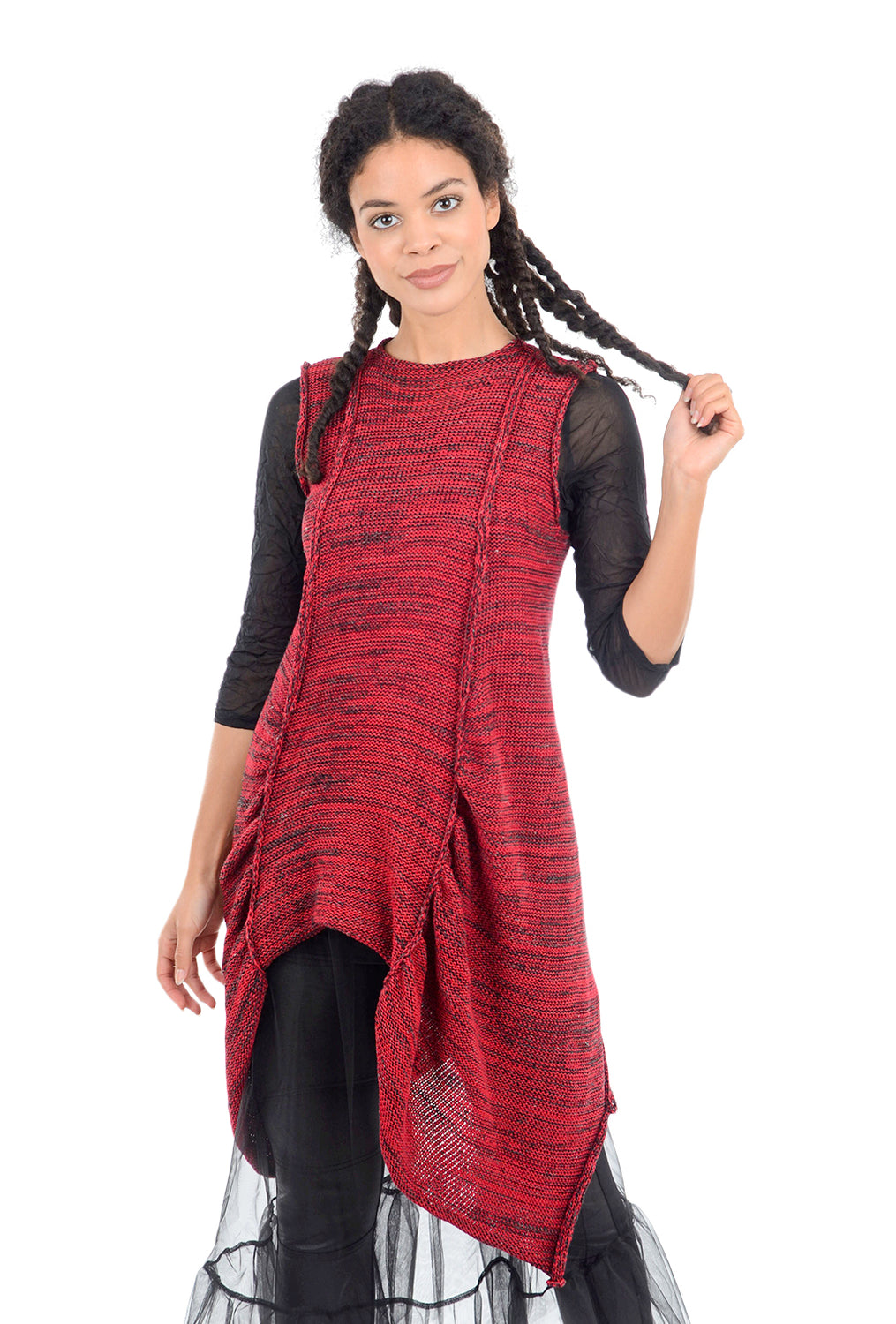 Skif International Scranton Panels Tunic, Cranberry One Size Cranberry