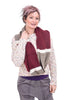 New Prospects Plush Infinity Scarf, Wine/Beige One Size Wine