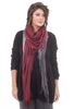 Blue Pacific Tissue Solid Scarf, Slate/Burgundy