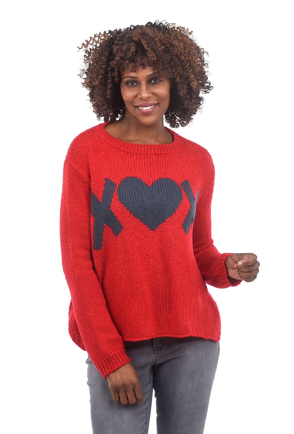 Wooden Ships XOX Slouchy Pullover, Red