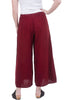 Cynthia Ashby A-Line Linen Pants, Red