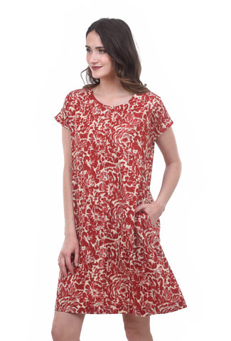 Two Danes Raja Ikat Dress, Red