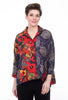 3 Potato Patterned Swing Jacket, Red Mix