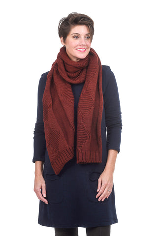 Numph Makelesi Scarf, Brick One Size Brick