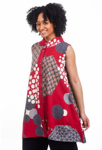 Mao Mam Nightingale Vest, Red One Size Red
