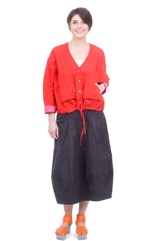 Alembika Cropped Pocket Jacket, Red