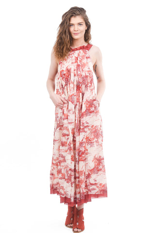 Free People Tropical Toile Maxi Dress, Ivory Combo