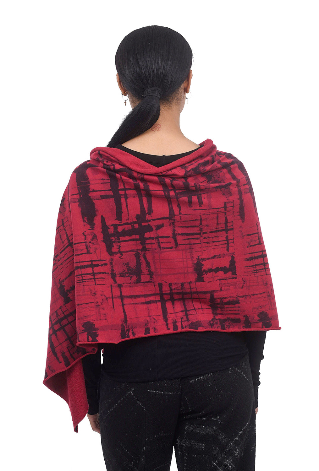 Fenini Printed FT Shawl, Red One Size Red